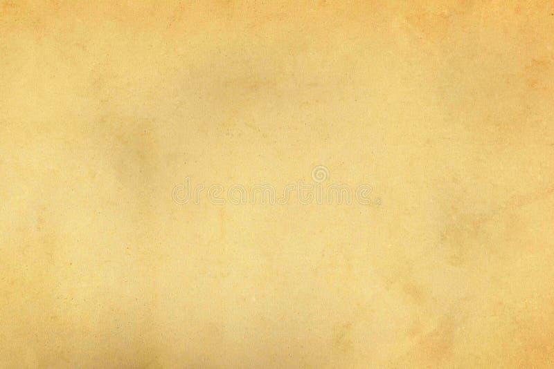 Светлая бежевая выдержанная винтажная старая бумажная текстура пергамента стоковая фотография