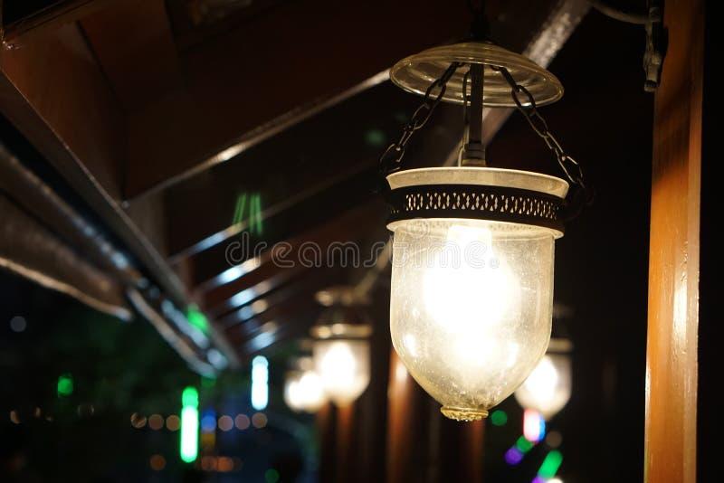 Свет на тайском доме стоковые изображения rf