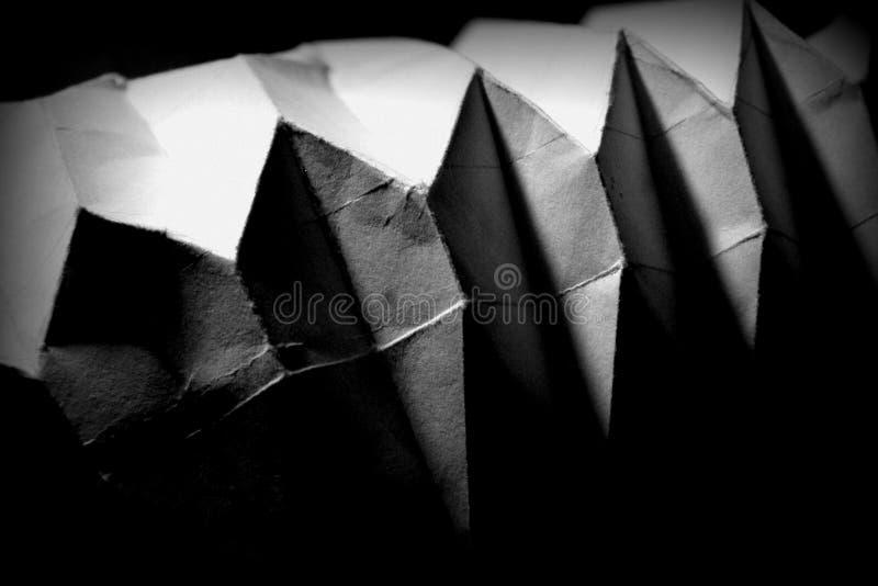 Свет, темнота и игра бумаги стоковые изображения rf