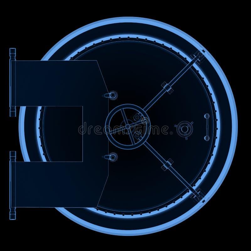 Сейф банка или рентгеновский снимок свода иллюстрация штока