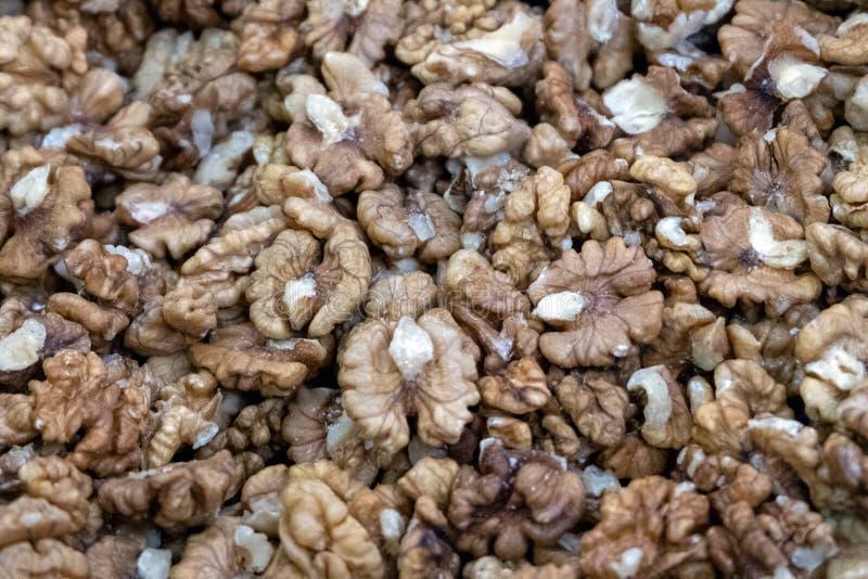 Серии обстреливаемых грецких орехов еда вареников предпосылки много мясо очень Конец-вверх Селективный фокус стоковые изображения rf