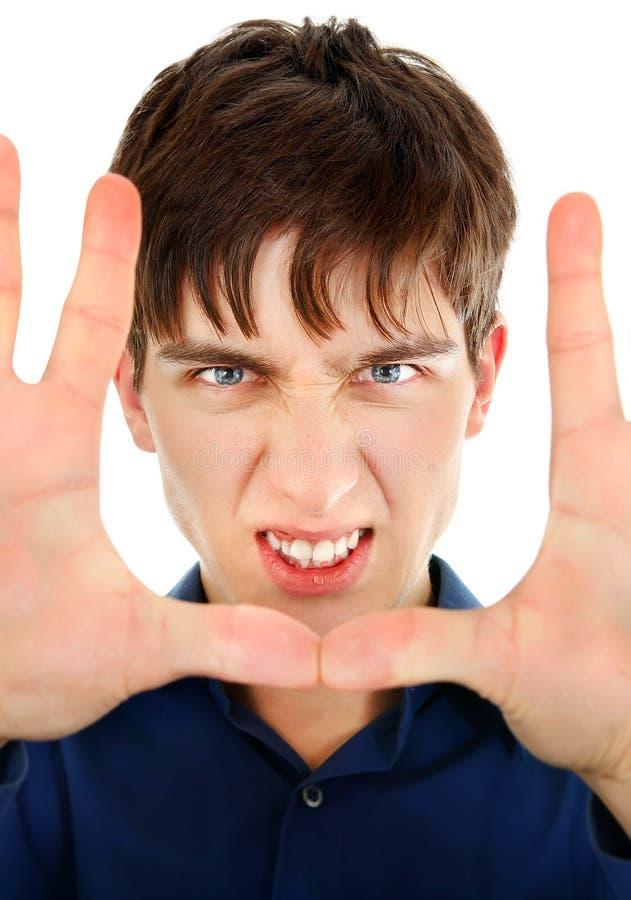 сердитые детеныши человека стоковые изображения rf