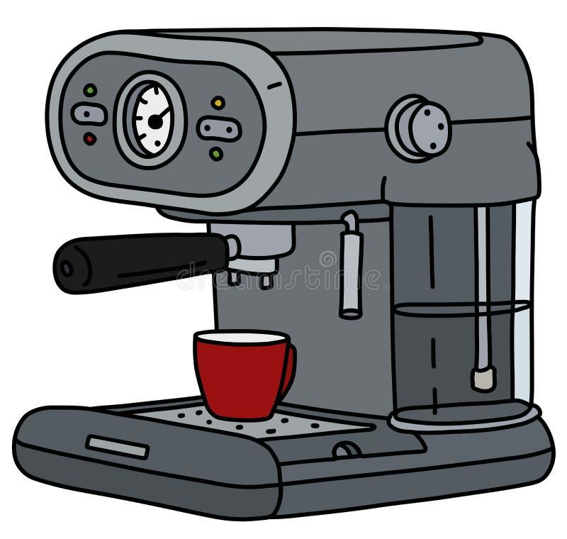Серый электрический создатель эспрессо бесплатная иллюстрация