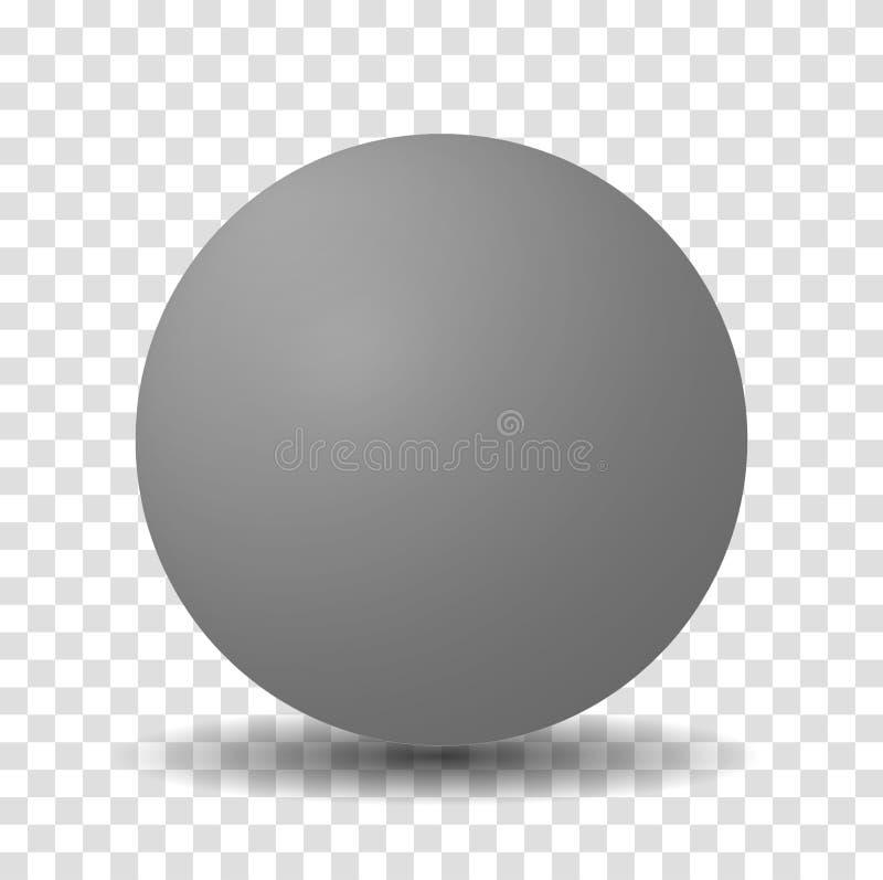 Серый шарик сферы иллюстрация штока
