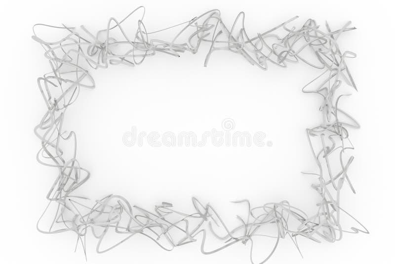 Серый цвет или черно-белый состав CGI b&w, фон строки, виртуальная бумажная рамка для текстуры дизайна, предпосылки 3d представля стоковое фото rf