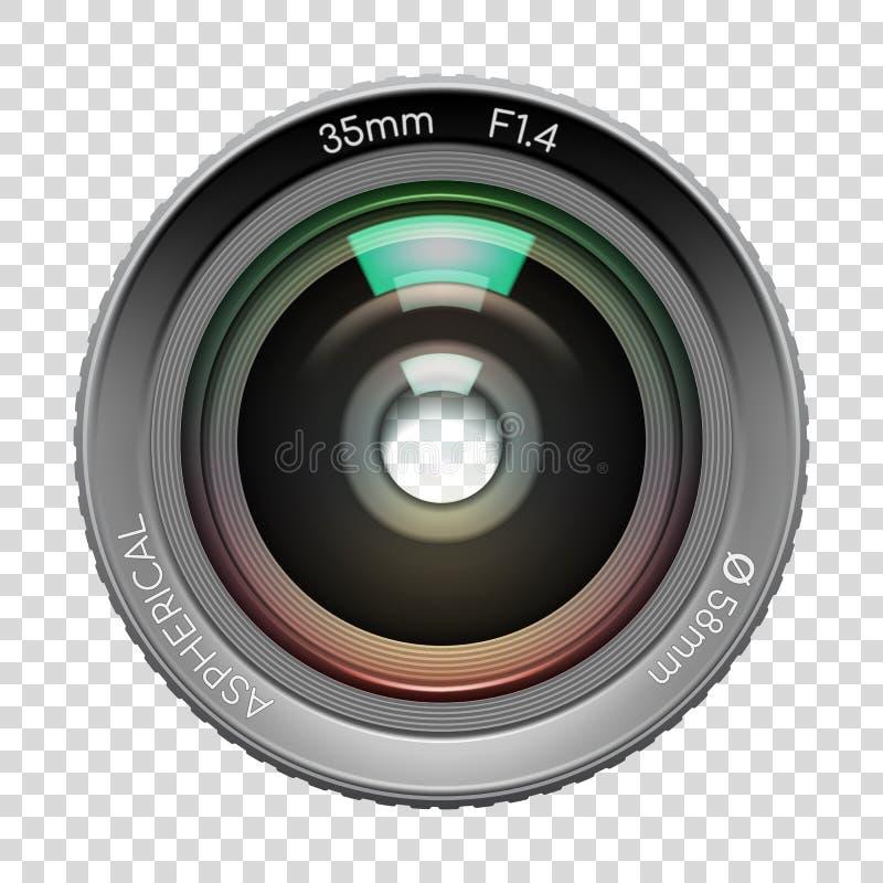Сильно детальный объектив фотоаппарата видео или фото иллюстрация вектора
