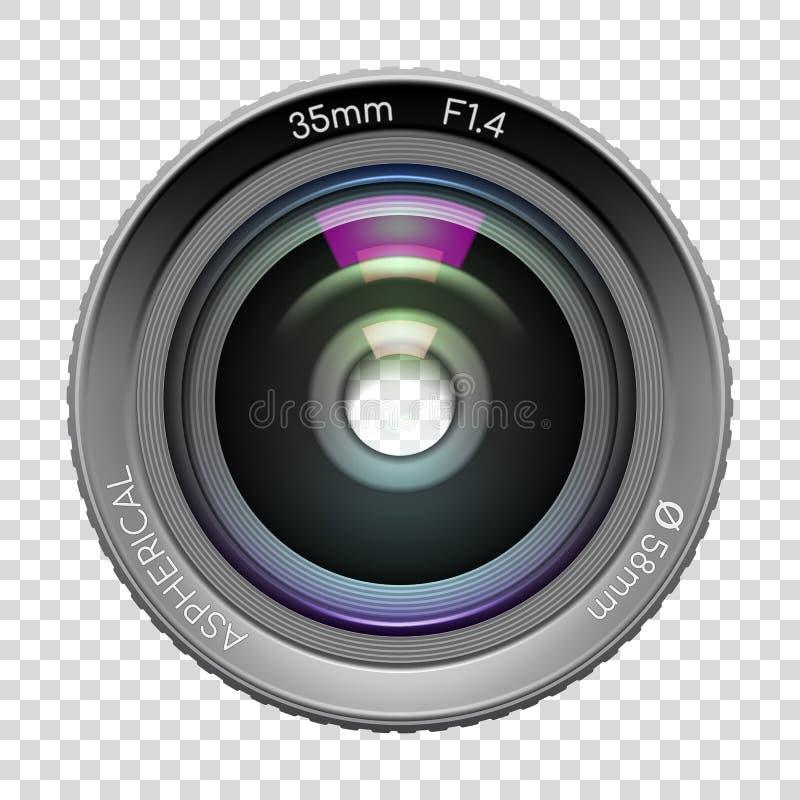 Сильно детальный объектив фотоаппарата видео или фото бесплатная иллюстрация