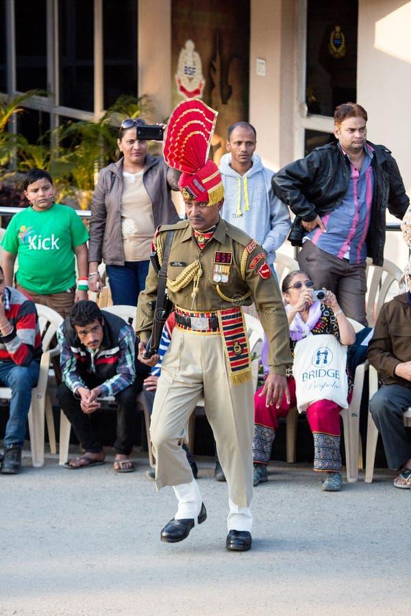 Силы безопасности границ в Амритсаре стоковое фото