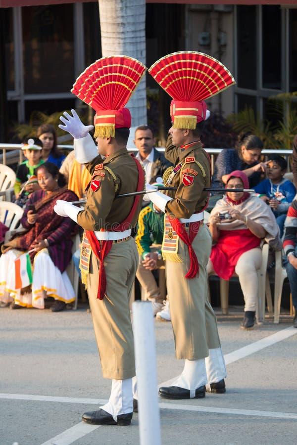 Силы безопасности границ в Амритсаре стоковая фотография