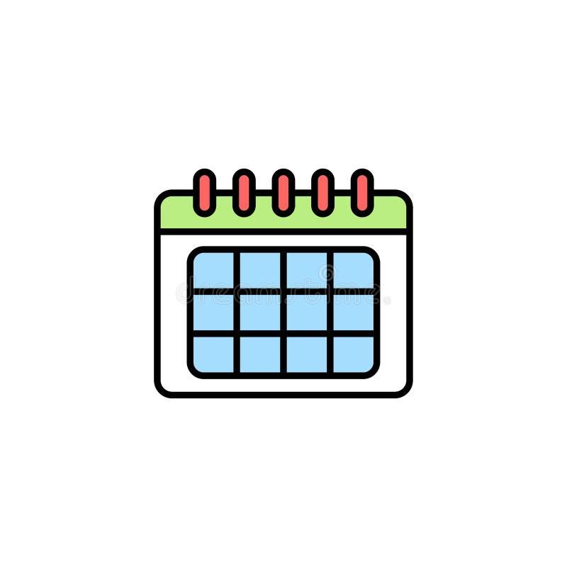 Символ знака значка вектора календаря бесплатная иллюстрация
