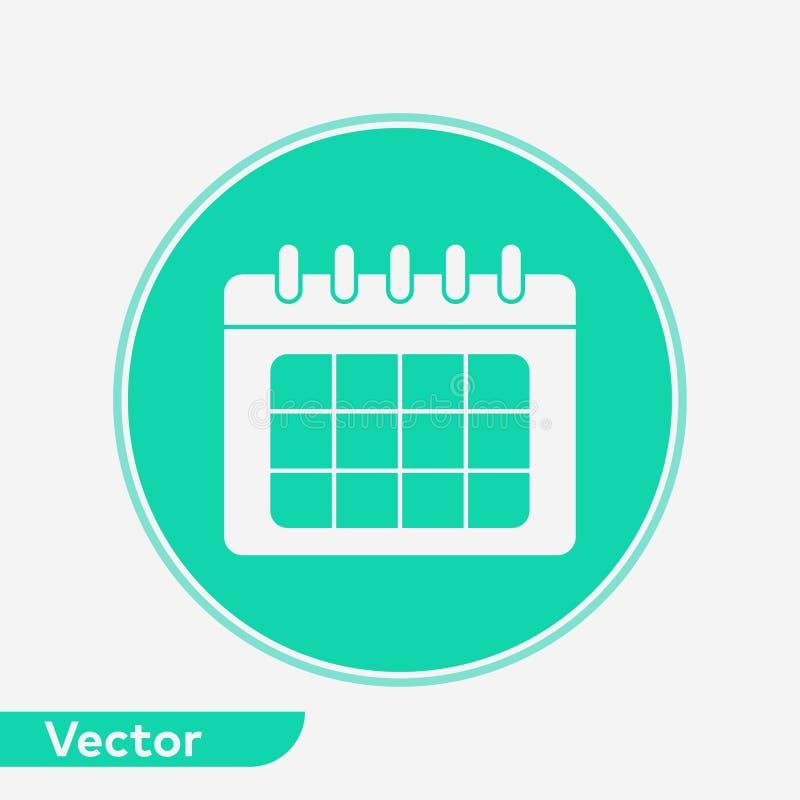 Символ знака значка вектора календаря иллюстрация вектора