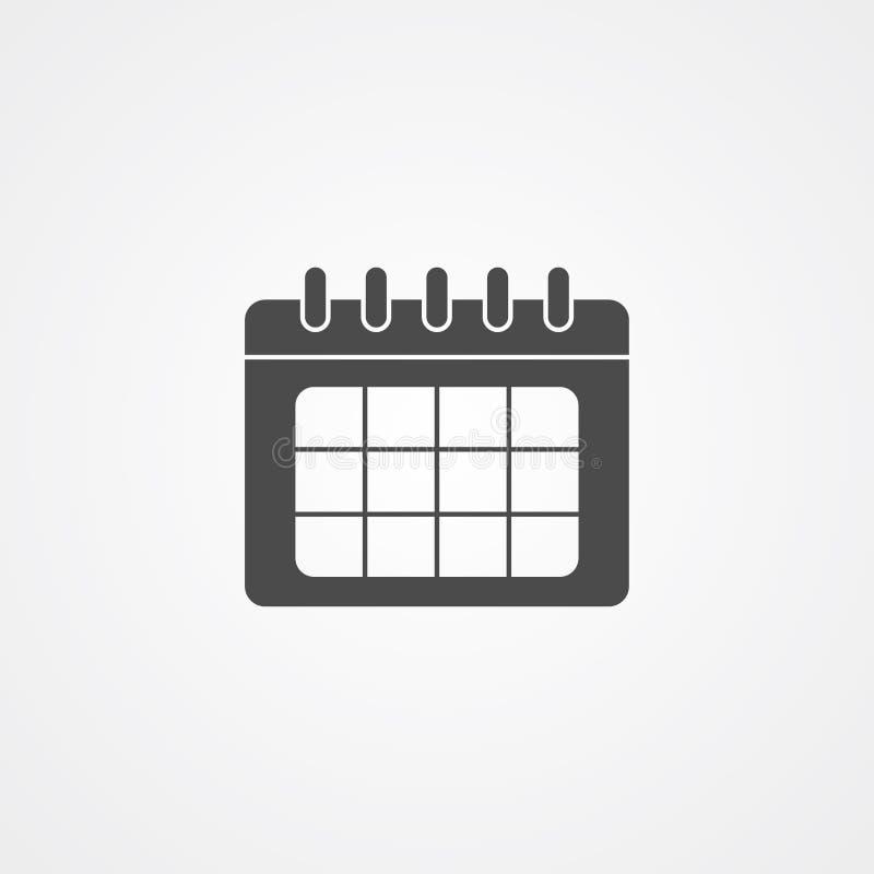 Символ знака значка вектора календаря иллюстрация штока