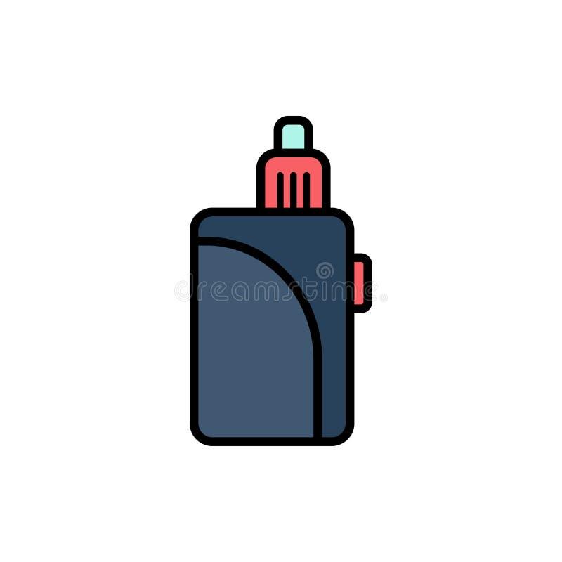 Символ знака значка вектора электронной сигареты плоский бесплатная иллюстрация