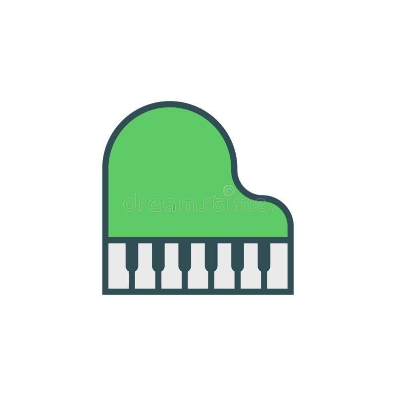 Символ знака значка вектора рояля плоский иллюстрация вектора