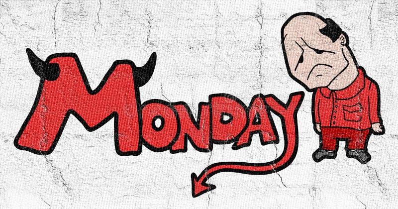 Символ понедельника иллюстрация вектора