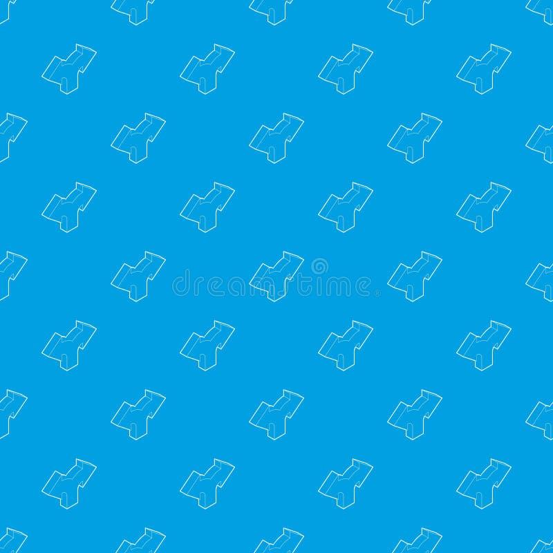 Синь двухстороннего вектора картины стрелки направления безшовная бесплатная иллюстрация