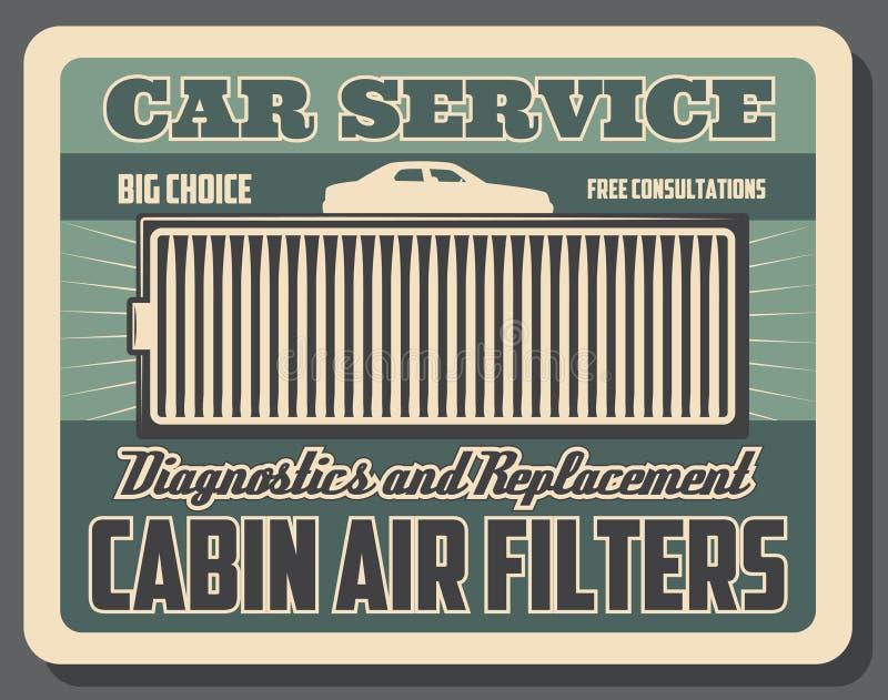 Система вентиляции автомобиля, фильтр чистки воздуха кабины бесплатная иллюстрация
