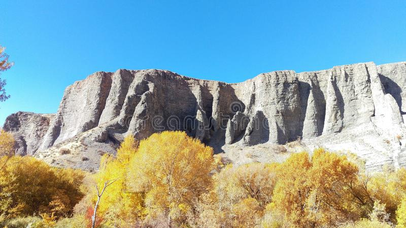 Скалы каньона Provo в осени стоковая фотография