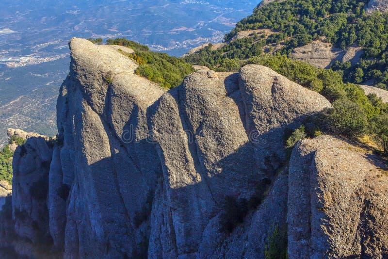 Скалы Монтсеррата стоковые изображения rf