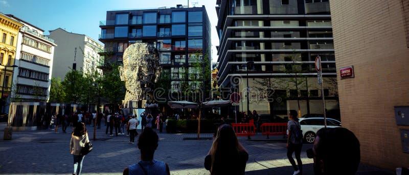 Скульптура Франц Кафка кинетическая Дэвид Cerny стоковая фотография rf
