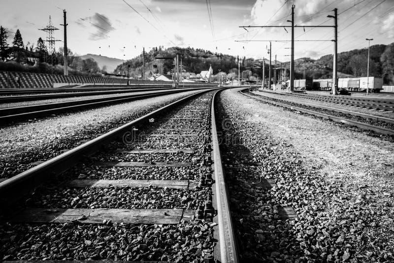 Следы железных дорог стоковые фотографии rf