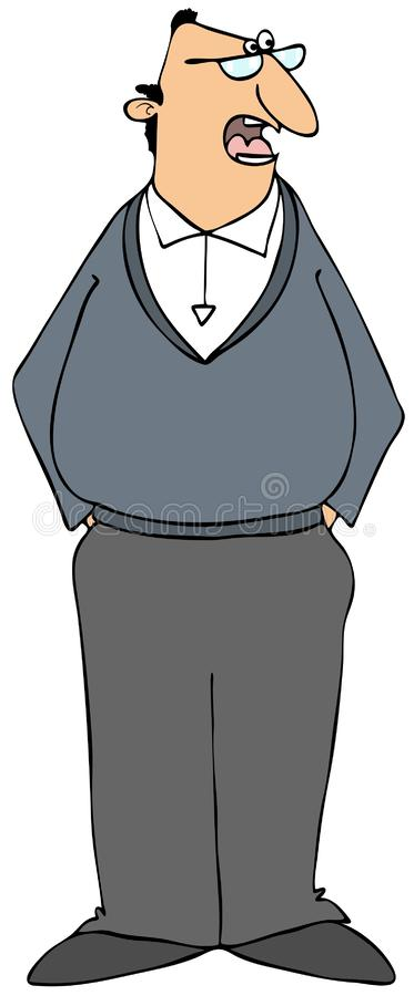 Случайный лысеющий человек нося свитер иллюстрация штока