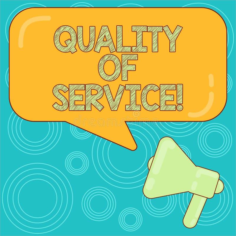 Слово писать гарантированное качество обслуживания текста Концепция дела для perforanalysisce измерения описания общего обслужива бесплатная иллюстрация