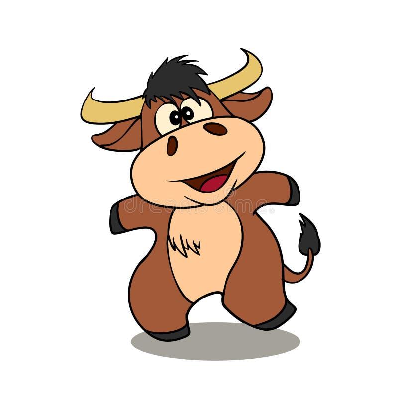 Смешной мультфильм быка гористой местности бесплатная иллюстрация