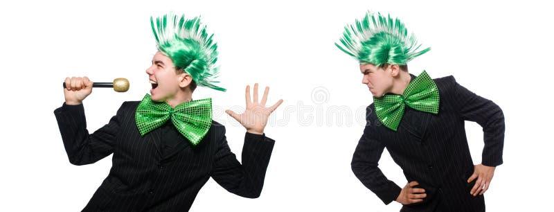 Смешной человек с стилем причёсок mohawk стоковые фото