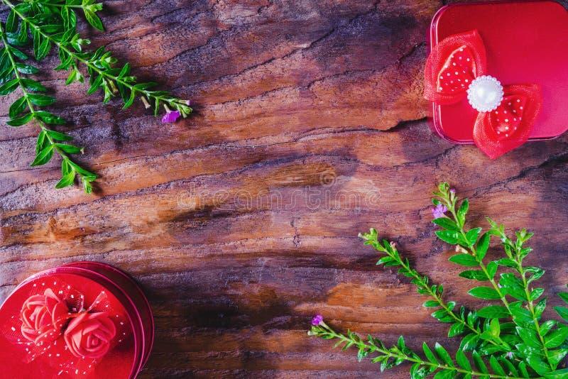 Справочная информация Рождество подарочной коробки и С Новым Годом! стоковое изображение