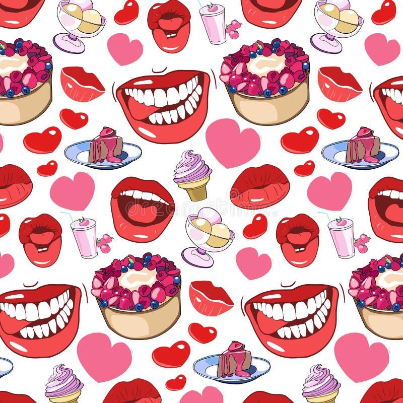 Pattern, sweet life vector illustration