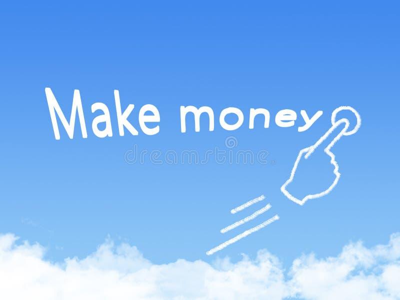Сделайте форму облака сообщения денег иллюстрация вектора