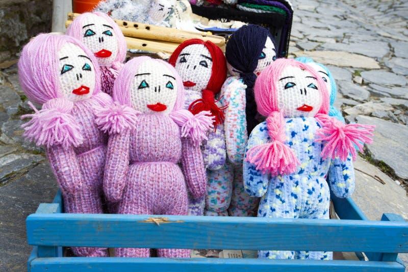 Сделанный из куклы ткани, младенец игрушки, деревня Sirince/Izmir/Турция стоковые изображения