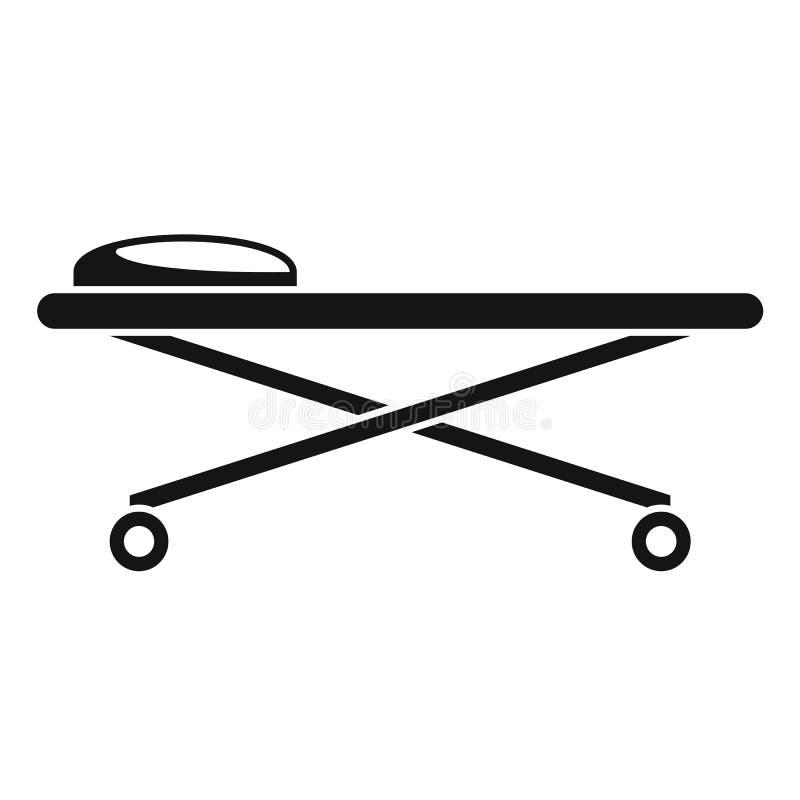 Судебнохимический значок стола тележки лаборатории, простой стиль бесплатная иллюстрация