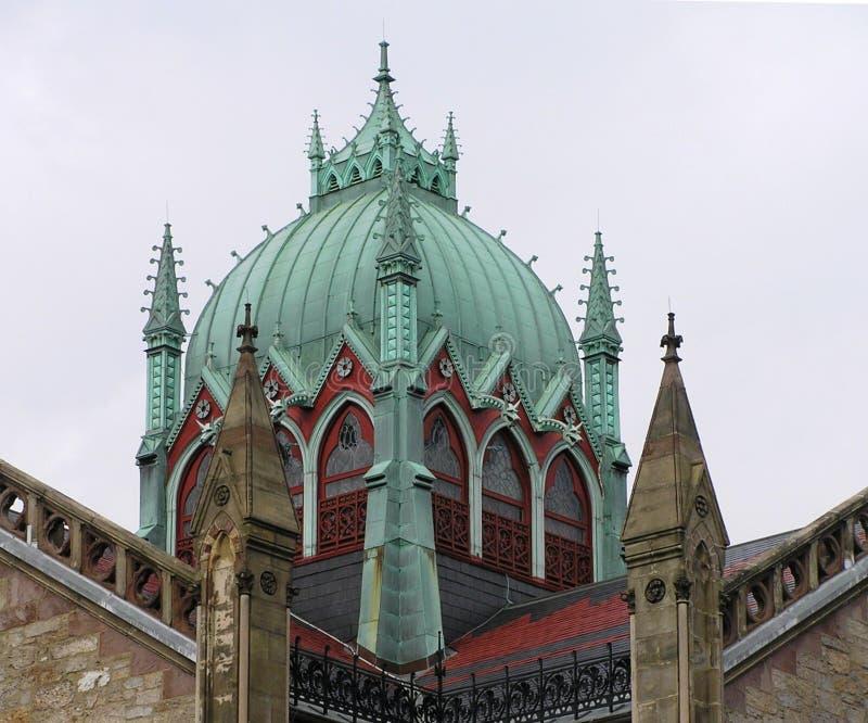 США, Бостон, Массачусетс - красивый медный купол старой южной церков стоковая фотография rf