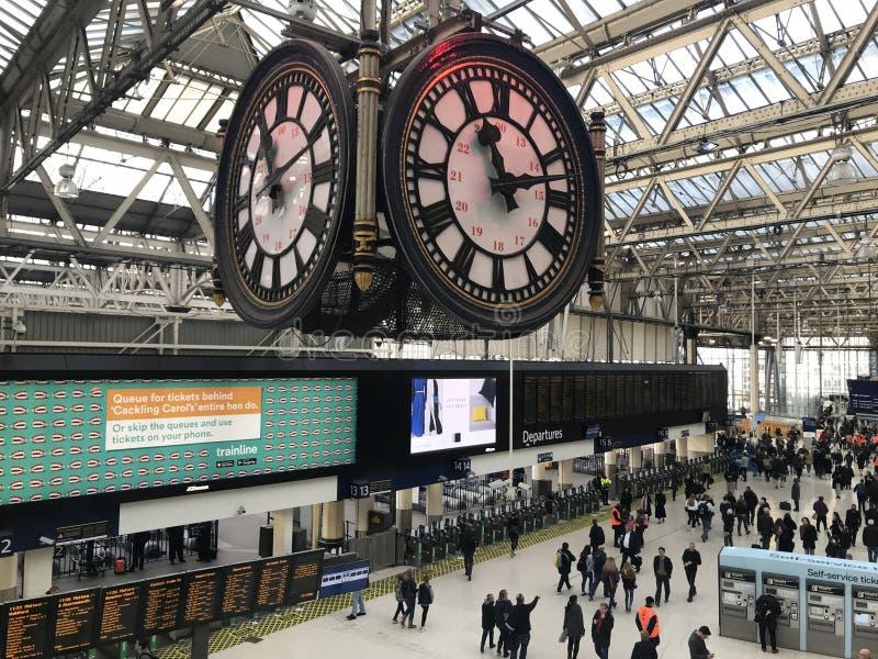 Станция Ватерлоо, Лондон стоковые фото