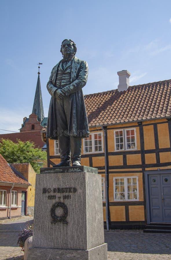 Статуя датского ерстеда Hans физика и химика христианского - h C Ørsted Он открыл что электричество и магнетизм стоковые фото