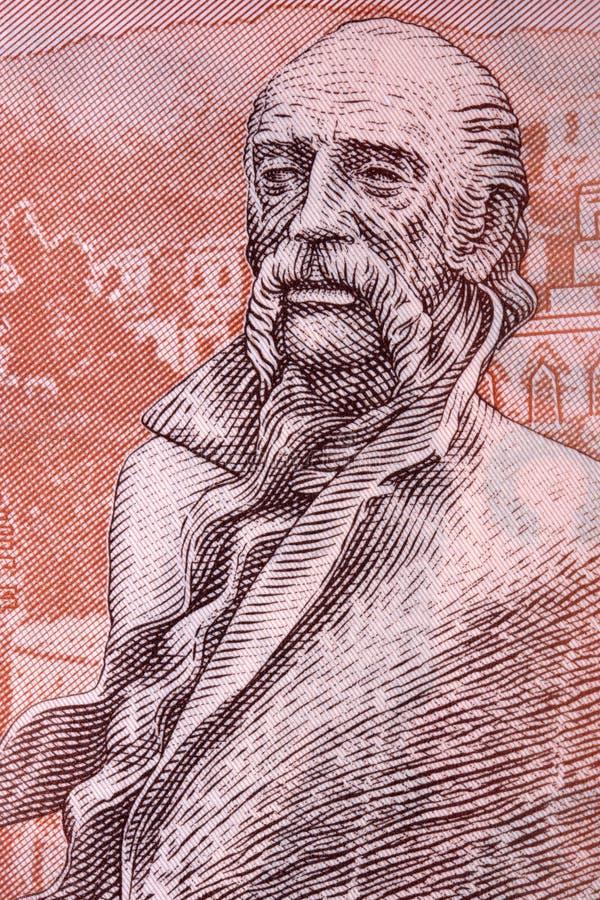 Статуя Saroyan от армянских денег стоковая фотография