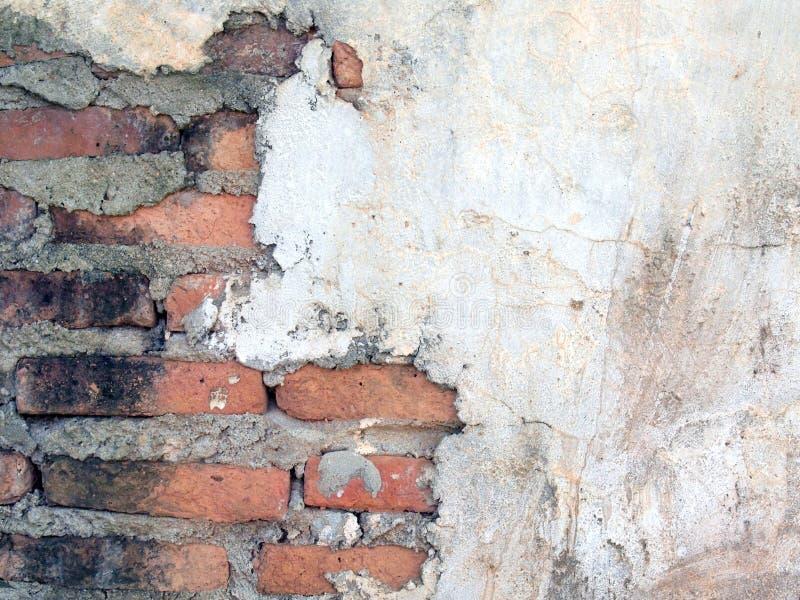 Старые стены треснуты стоковое фото