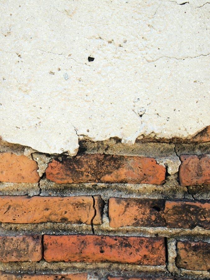 Старые стены треснуты стоковая фотография rf