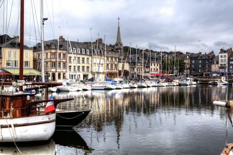 Старый порт Honfleur стоковое изображение