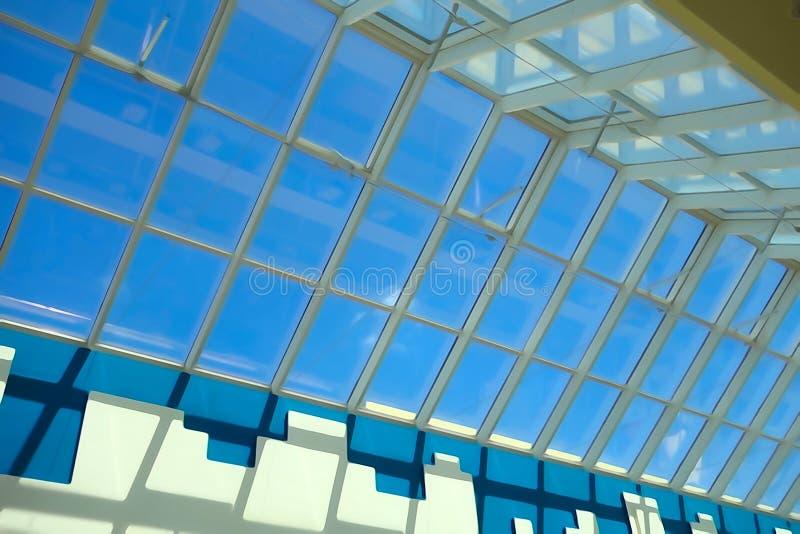Стеклянная предпосылка крыши стоковая фотография rf