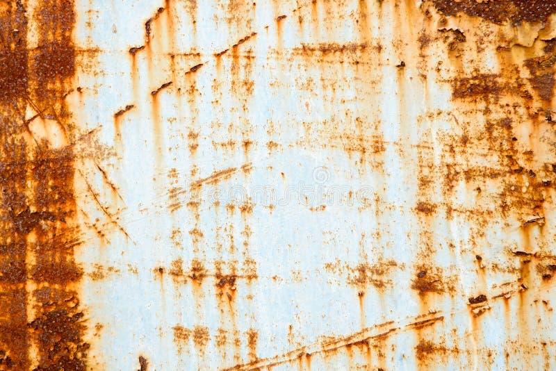 Стена металла ржавея предпосылка стоковая фотография rf