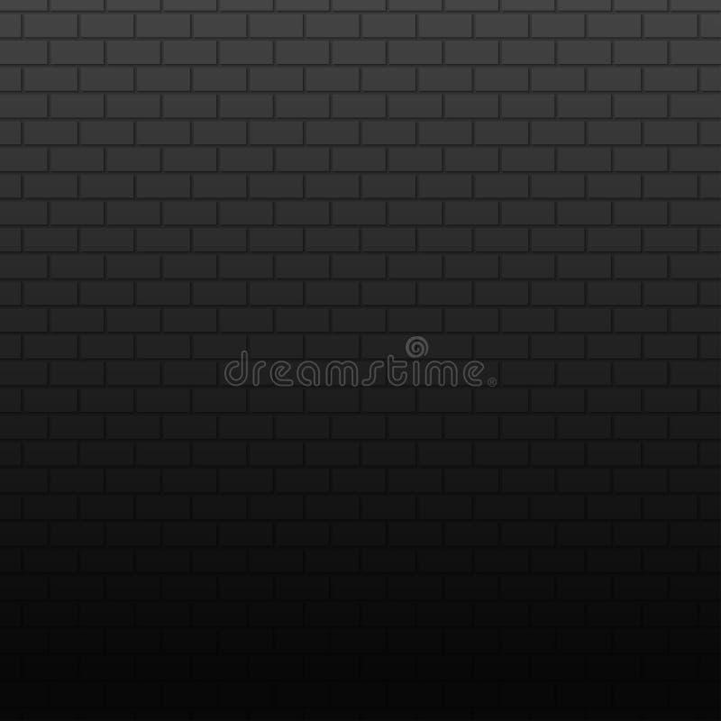 Стена на темной предпосылке Знамя кирпичей Stonewall иллюстрация вектора