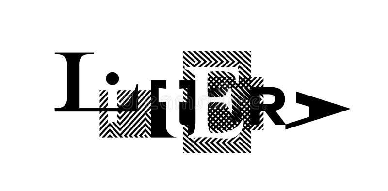 Стиль абстрактного искусства, современного искусства улицы и граффити Изображение изолировано на белой предпосылке вектор шаблона бесплатная иллюстрация