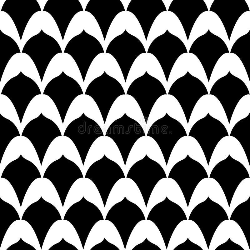 Стиль Арт Деко печатает в черном & белом иллюстрация вектора