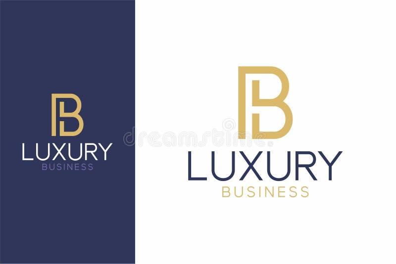Стиль b роскошного логотипа современный стоковые изображения rf