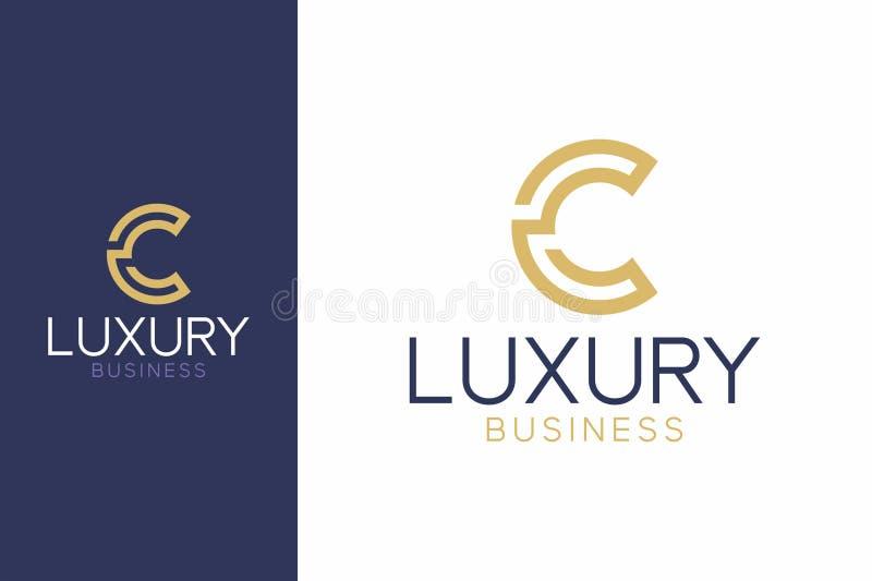 Стиль c роскошного логотипа современный стоковое фото