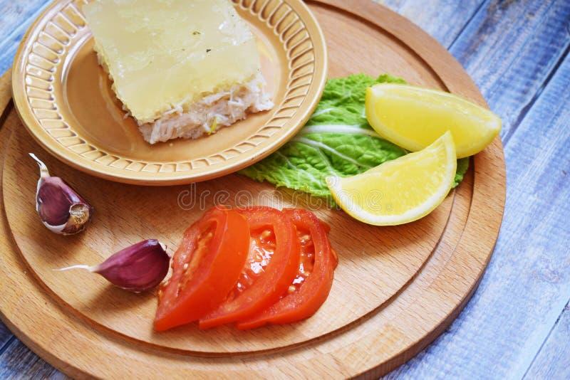 Студень цыпленка и овощей стоковая фотография rf