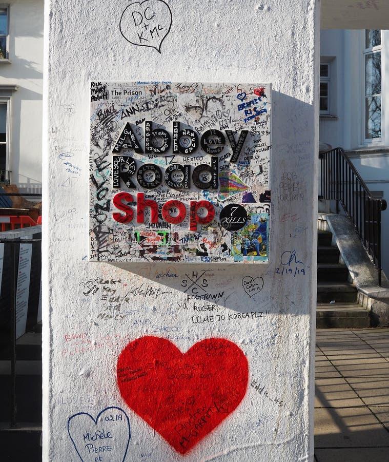 Студии дороги аббатства ходят по магазинам Лондон, стоковое фото rf